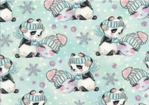 T5395 Joggingtyg Panda i snö