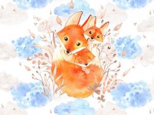 T5399 Sweatshirt Fabric  Fox (40 x 50 cm)