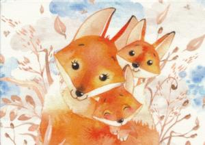 T5399 Sweatshirt Fabric Fox (40 x 50 cm)