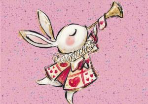 T5401 Joggingtyg Den vita kaninen rosa (40 x 50 cm)