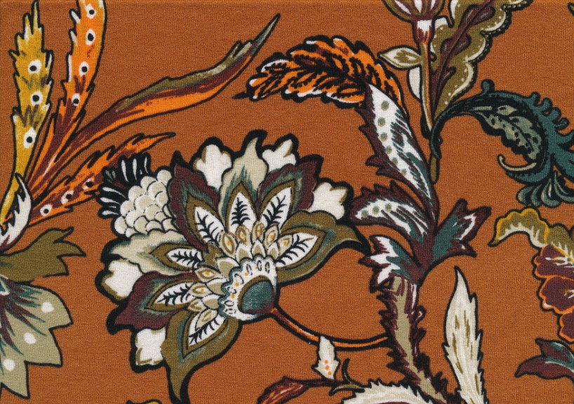 T5414 Viscosetrikå Blomma brun