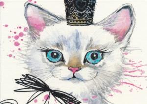 T5428 Joggingtyg Prinsess-katt (40 x 50 cm)