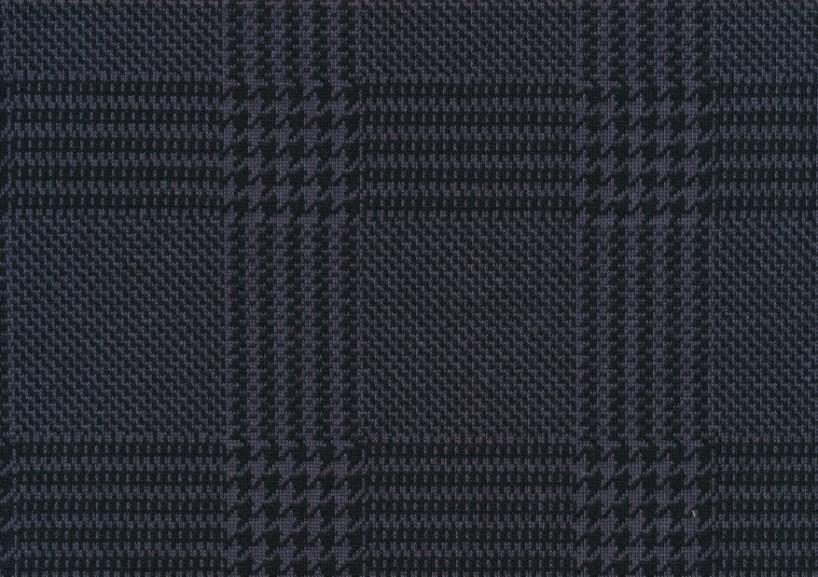 T5453 Trikåjacquard Glen Check grey-black