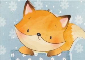 T5456 Sweatshirt Fabric Fox In Pocket (40 x 50 cm)