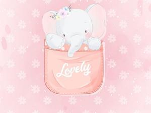 T5457 Joggingtyg Elefant i ficka (40 x 50 cm)**