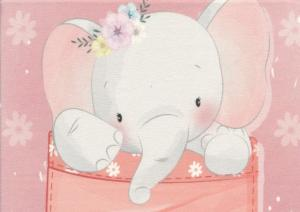 T5457 Sweatshirt Fabric Elephant In Pocket (40 x 50 cm)