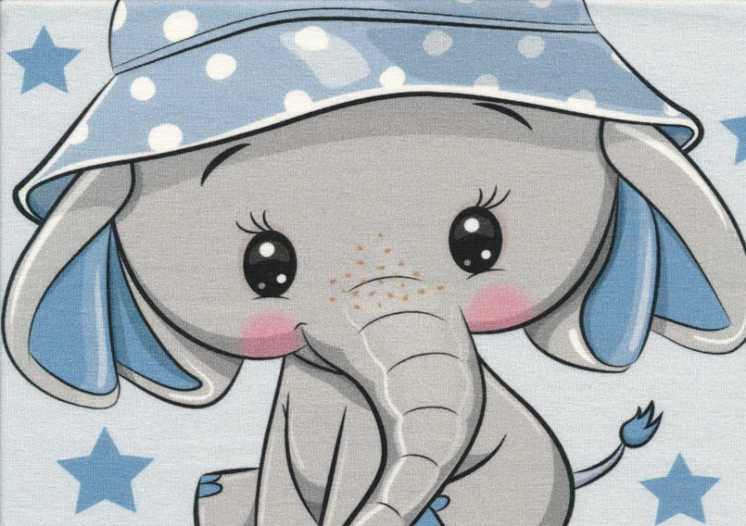 T5473 Joggingtyg Elefant med hatt (40 x 50 cm)
