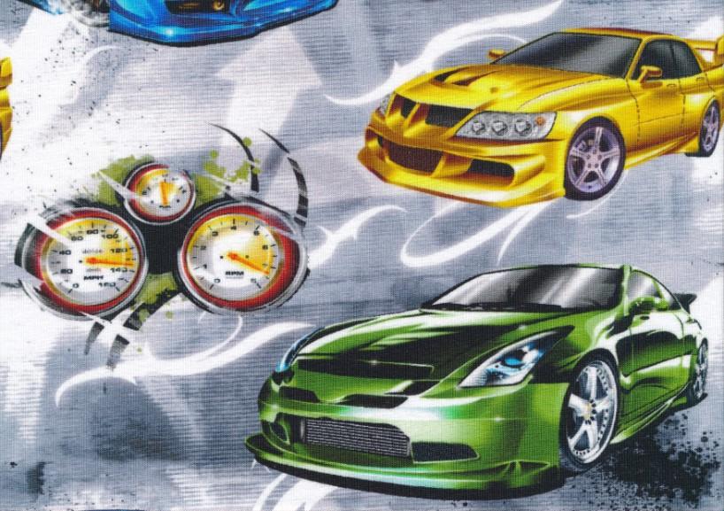 T5501 Trikå Fast and Furious ljusgrå