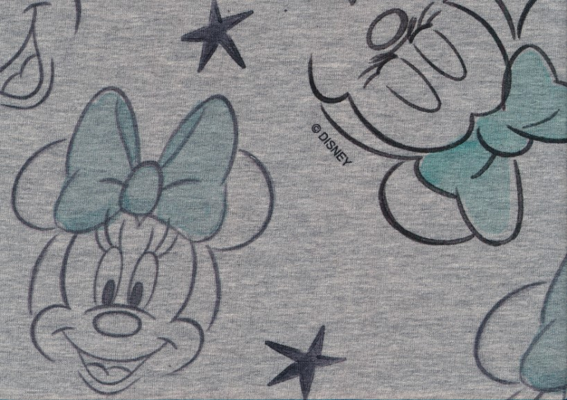 T5506 Sweatshirt Fabric Minnie Mouse light blue