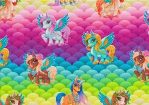 T5510 Jersey Fabric Unicorn colorful