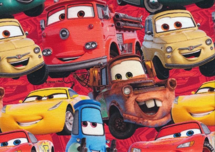 T5522 Jersey Fabric Lightning McQueen and Friends