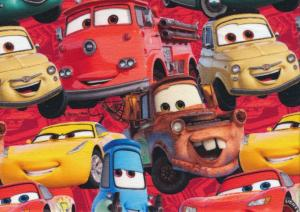 T5522 Jersey Fabric Lightning McQueen and Friends