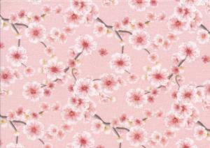 T5532 Jersey Fabric Nice Flowers pink