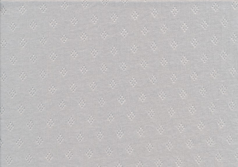 T5572 Pointelle Cotton Jersey light grey