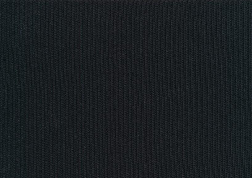 T5634 Stickad bomull svart