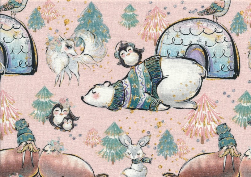 T5636 Sweatshirt Fabric Polar Bear