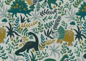 T5651 Jersey Fabric Dinosaur green