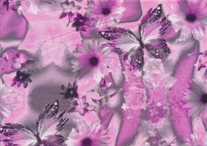 T5666 Jersey Fabric Small Butterfly purple
