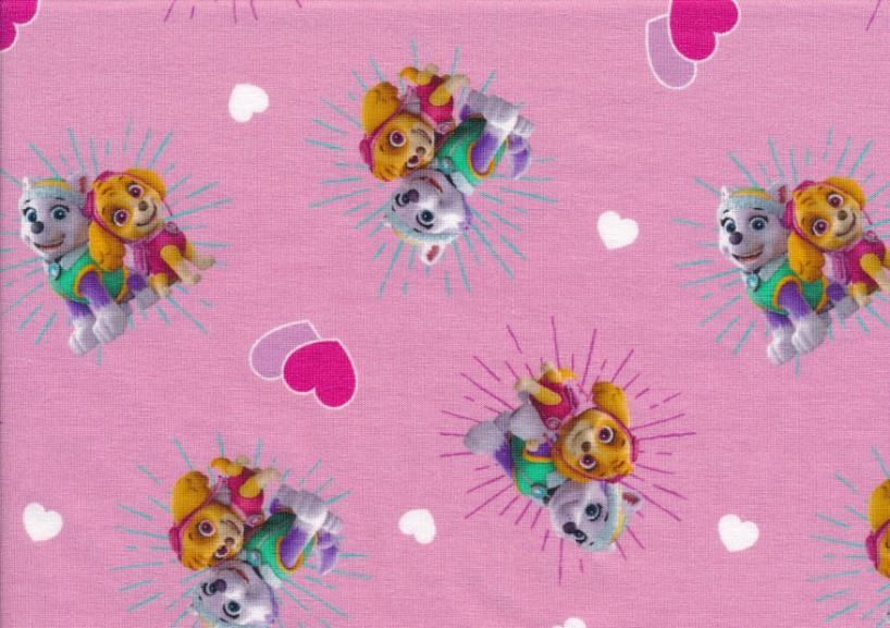 T5671 Trikå Paw Patrol kram rosa