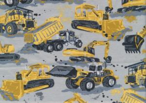 T5678 Jersey Fabric Yellow machines