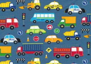 T5680 Jersey Fabric Vehicles blue