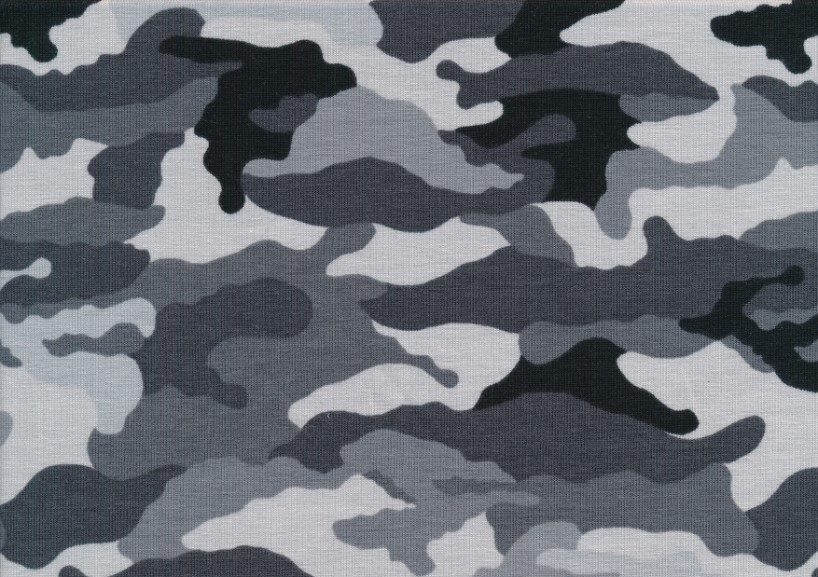 T5682 Trikå Kamouflage svart