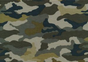 T5682 Jersey Fabric Camouflage green