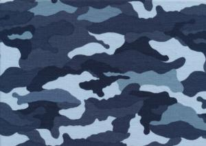T5682 Jersey Fabric Camouflage blue