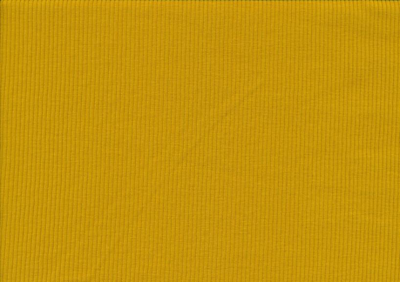 T5738 Ribbad trikå senapsgul