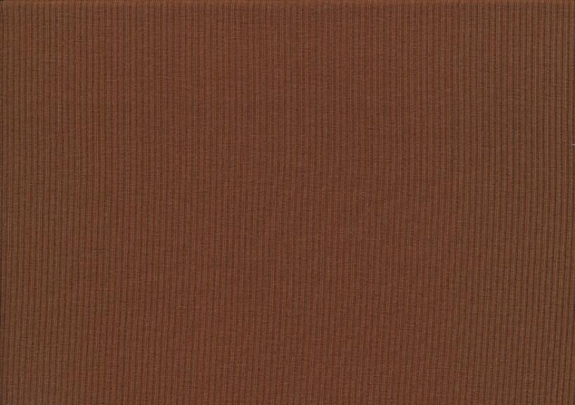 T5738 Ribbad trikå mörkbrun