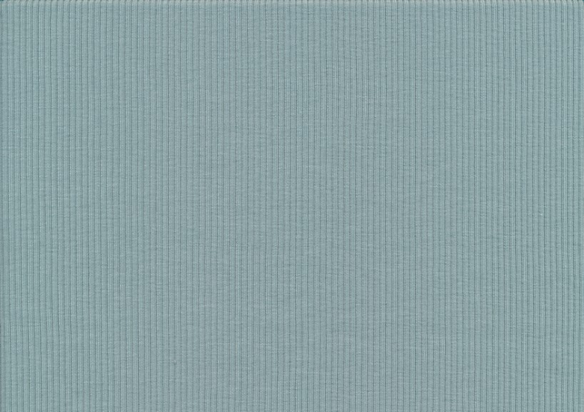 T5738 Ribbad trikå ljusblå