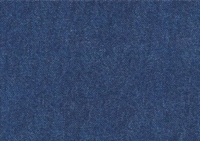 T5769 Trikå Jeansmönster blå