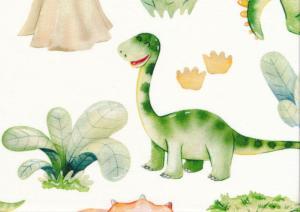 T5776 Trikå Glada dinosaurer
