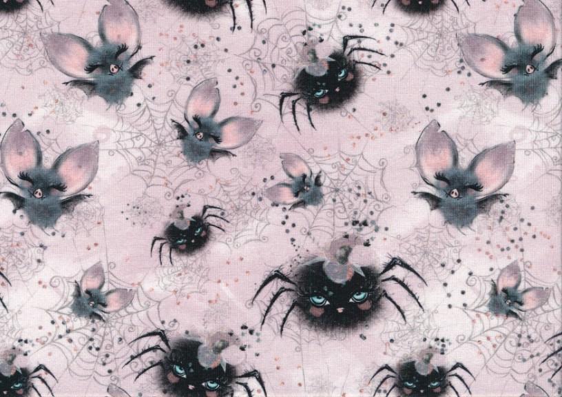 T5819 Trikå Söta fladdermöss och spindlar