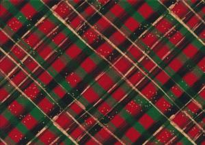 T5823 Trikå Ruta röd/grön
