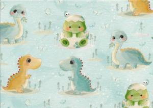 T6134 Jersey Fabric Baby Dino