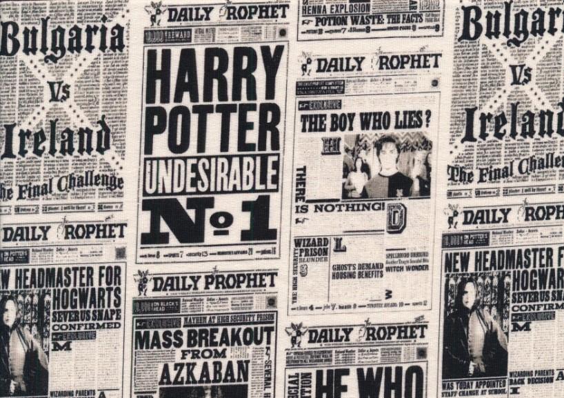 T6159 Joggingtyg Harry Potter tidning