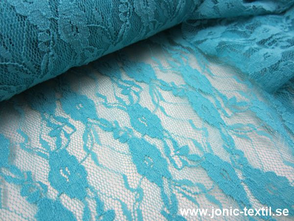 Stretch Lace Fabric turquoise