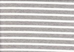 T970 Trikå med rand grå/vit