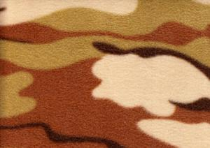 Fleece kamouflage beige
