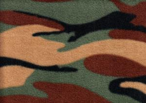 Fleece Fabric Camouflage green