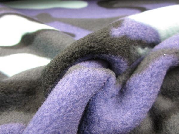 Fleece kamouflage blå