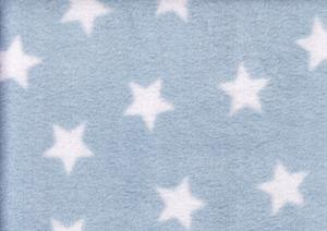 Fleece Fabric star light blue