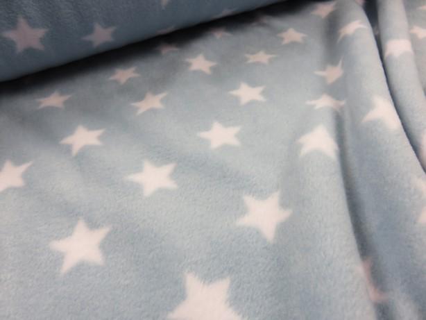 Fleece stjärna ljusblå