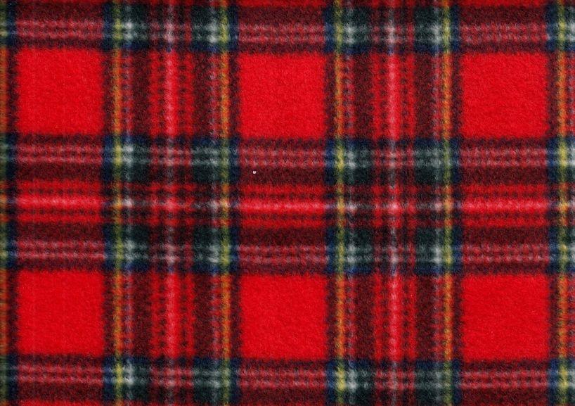 Fleece klanruta röd