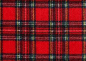 Fleece Fabric Check red
