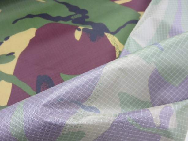 Ripstop kamouflage grön