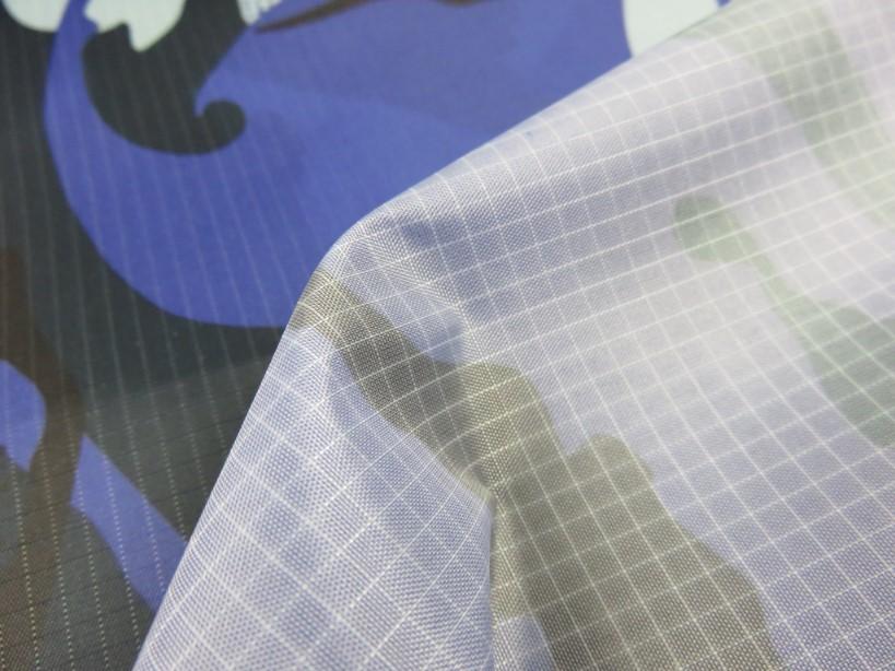 Ripstop kamouflage blå