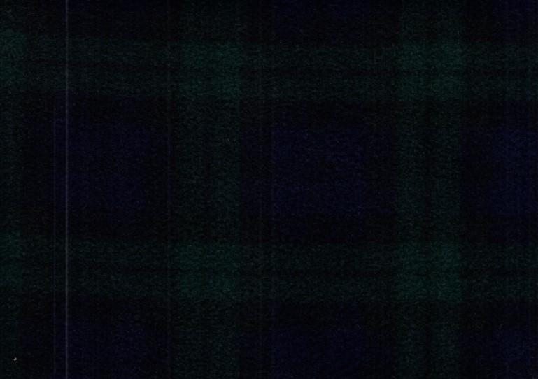 Fleece klanruta mörkblå