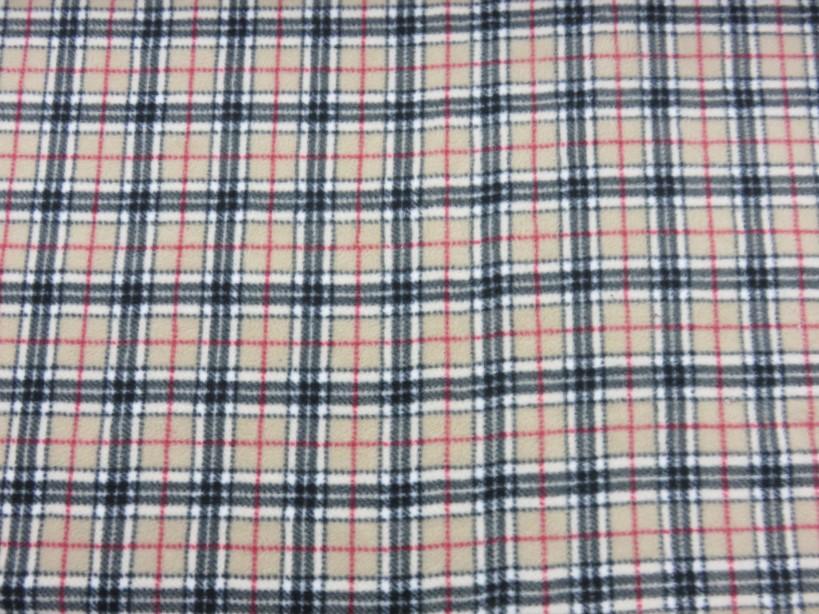Fleece Fabric Check beige